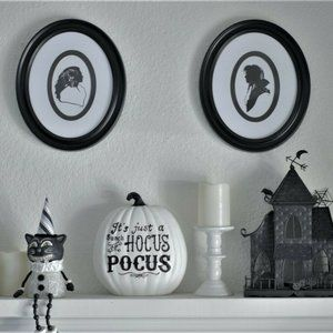 Labyrinth Silhouettes Art Pictures Halloween NEW